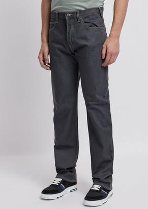 Emporio Armani Regular-Fit J21 Jeans In Stretch Cotton Denim