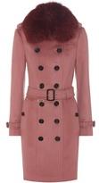 Burberry Sandringham Fur-trimmed Trench Coat