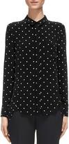 Whistles Emilia Dot-Print Button-Down Shirt