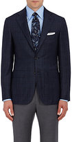 Canali Men's Plaid Wool-Cashmere Two-Button Sportcoat-NAVY