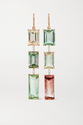 Irene Neuwirth Gemmy Gem 18-karat Rose Gold, Tourmaline And Diamond Earrings - one size