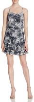 Aqua Spotty Ruffle Cami Dress