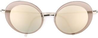 Lindberg Oversized Round Frame Sunglasses