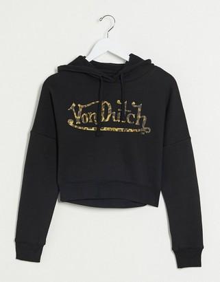 Von Dutch cropped tracksuit logo hoodie