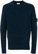 Stone Island arm patch jumper - men - Cotton - M