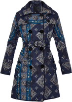 Burberry Paisley-print quilted trench coat