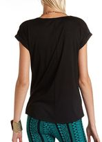 Charlotte Russe Bling Tiger Knit Tunic