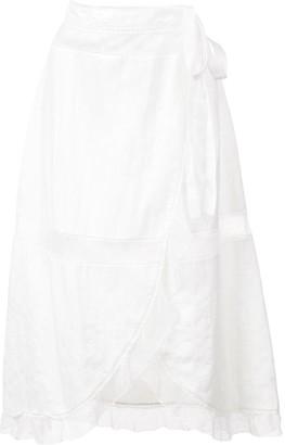 ALEXACHUNG Wrap Apron Skirt