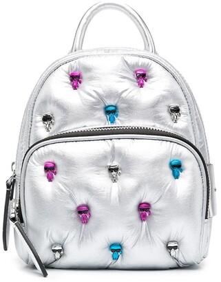 Karl Lagerfeld Paris Ikonik Multi Pin mini backpack