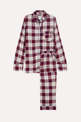 Three J NYC Checked Flannel Pajama Set - Red