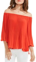 Vince Camuto Pleated Off-the-Shoulder Top