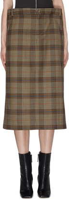 Maya Li Plaid Midi Skirt