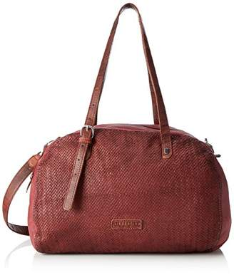 Liebeskind Berlin Camden City, Women's Shoulder Bag, Rot (Gang Wine), 18 x 20 28 cm (wxhxd)