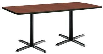 "KFI Studios Pedestal Table Top Finish: Mahogany, Size: 29"" H x 30"" W x 72"" L"
