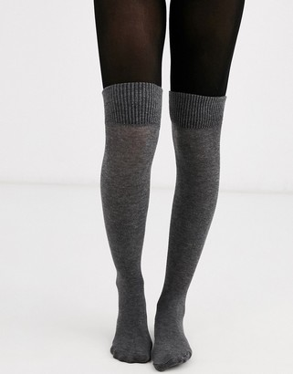 Jonathan Aston boot sock tights in grey
