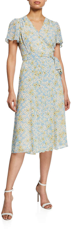 Donna Morgan Floral-Print Pleated Dress