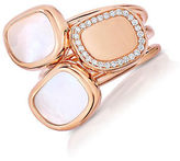 Roberto Coin Black Jade Diamond, Mother-of-Pearl and 18K Rose Gold Ring