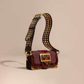 Burberry The Patchwork in Textured Suede and Snakeskin