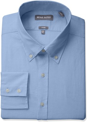 Michael Bastian Men's Slim Fit Solid Oxford with Button Down Collar