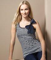 Cotton Rich Stripe Vest Top with Bow