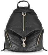 Rebecca Minkoff Black Pebbled Leather Julian Backpack