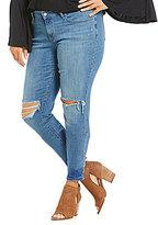 Levi's s Plus 711 Distressed Skinny Jeans