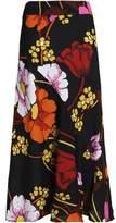 Marni Floral-Print Crepe Maxi Skirt