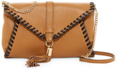 Milly Astor Leather Whipstitch Clutch
