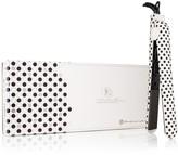 Royale USA Diamond Collection Soft Touch Classic 1.25 Flat Iron - Black Polka Dots