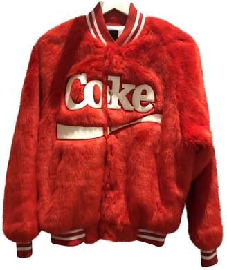 Joyrich Red Faux fur Jacket for Women