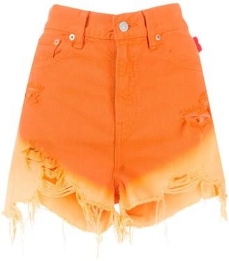 Denimist Gradient Effect Denim Shorts