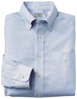 L.L. Bean L.L.Bean Men's Wrinkle-Free Classic Oxford Cloth Shirt, Slightly Fitted University Stripe