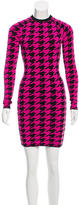 Torn By Ronny Kobo Bodycon Houndstooth Dress