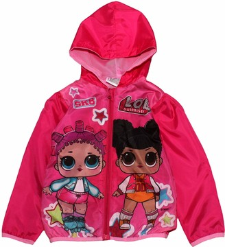 PAUBOLI Kids Windbreaker Graffiti Lightweight Jacket for Toddler Girls 1-7T