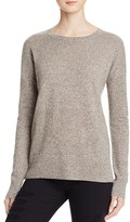 Aqua Cashmere High/Low Crewneck Cashmere Sweater - 100% Exclusive