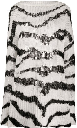 Stella McCartney Zebra Pattern Oversized Jumper