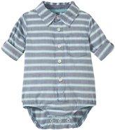 Osh Kosh Striped Bodysuit (Baby) - White/Blue-9 Months