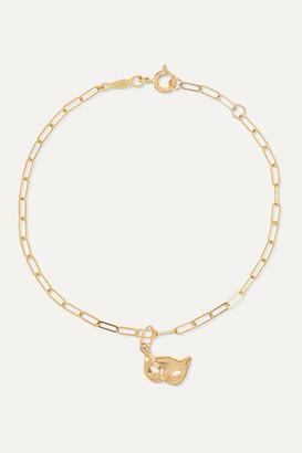 Catbird + Net Sustain Kitten Mask 14-karat Gold Bracelet - one size