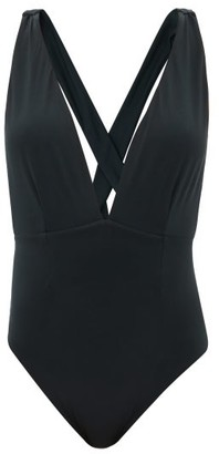 Haight Marina Plunge-neck Swimsuit - Black