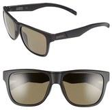 Smith Optics Women's 'Lowdown' 56Mm Polarized Sunglasses - Matte Black/ Polarized Green