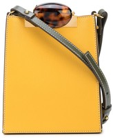 Marni Mini Tortoiseshell-Effect Clasp Cross-Body Bag