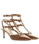 Valentino Rockstud patent-leather kitten-heel pumps
