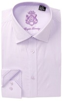 English Laundry Striped Pattern Trim Fit Dress Shirt