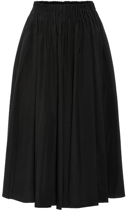 Marni High-rise cotton midi skirt