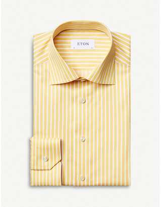 Eton Striped contemporary-fit cotton shirt