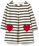 Gap Love stripe pleat dress