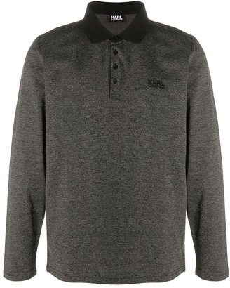 Karl Lagerfeld Paris Long Sleeve Polo Shirt