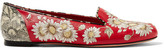 Alexander McQueen Embroidered Leather Loafers - IT39.5