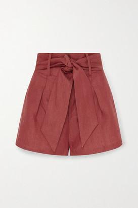 BONDI BORN + Net Sustain Fancy Belted Linen Shorts