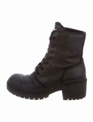 Marc Jacobs Combat Boots Black